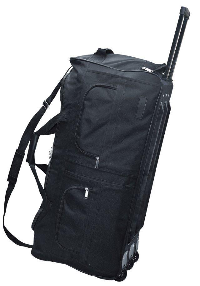mca travelsystem reisetasche trolley rollensporttasche schwarz 60l 80l 100l 140l ebay. Black Bedroom Furniture Sets. Home Design Ideas