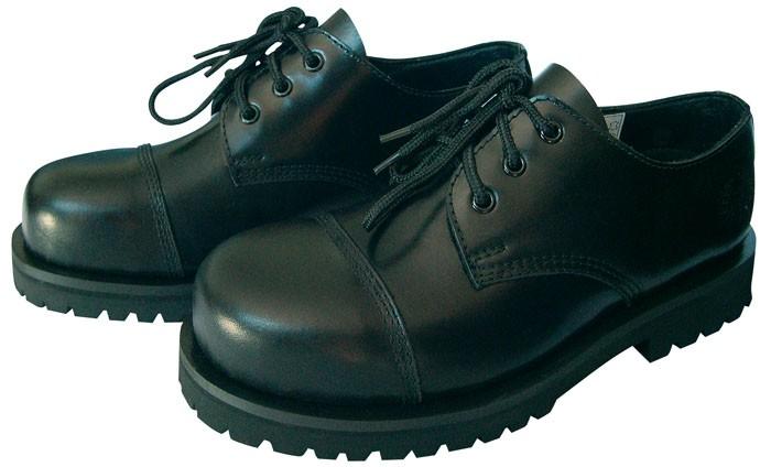 kb 3 loch ranger boots schuhe halbschuhe gothicschuhe stahlkappen schwarz neu. Black Bedroom Furniture Sets. Home Design Ideas