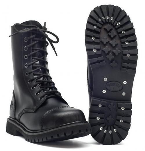 kb urban ranger boots stiefel schuhe gothicschuhe stahlkappen 10 loch schwarz ebay. Black Bedroom Furniture Sets. Home Design Ideas