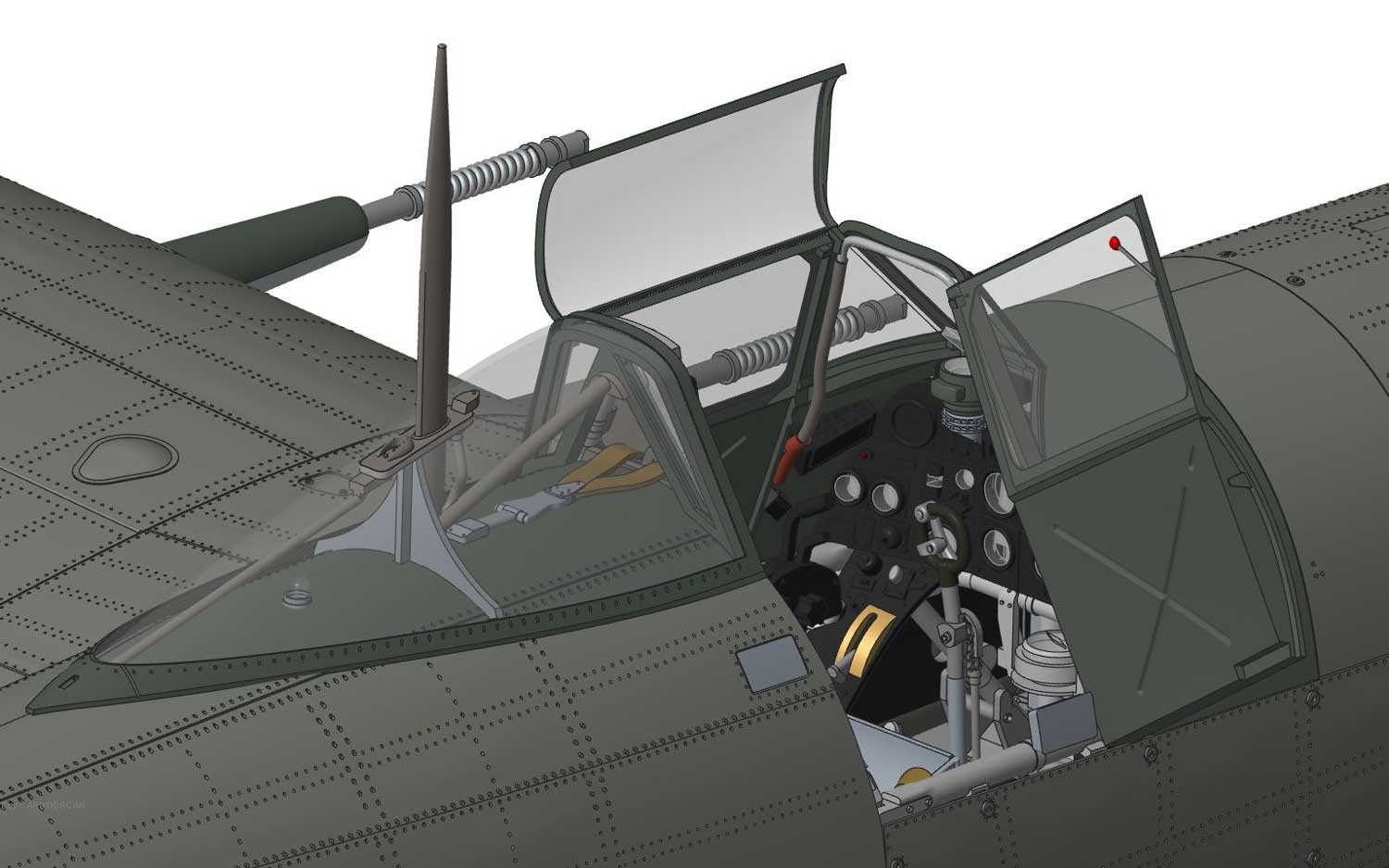airfix 1519003 hawker typhoon 1b car door 1 24 flugzeug. Black Bedroom Furniture Sets. Home Design Ideas