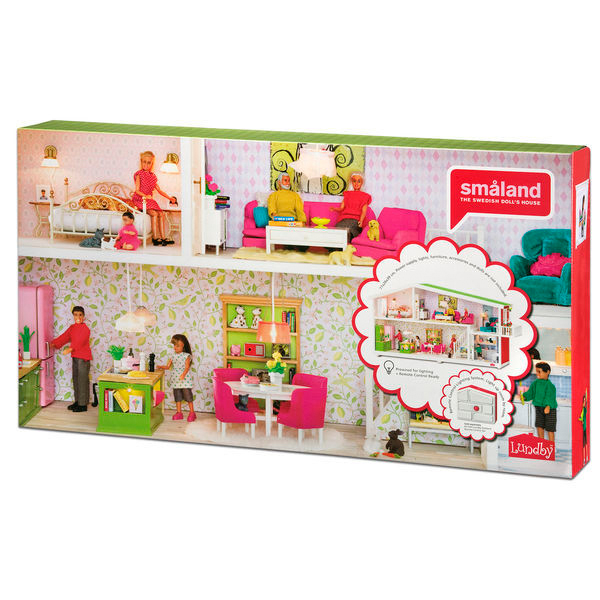lundby smaland puppenhaus 1 18 dekohaus ebay. Black Bedroom Furniture Sets. Home Design Ideas