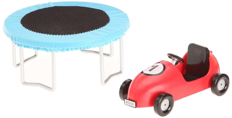 Lundby trampolin und auto garten spielzeug 1 18 for Garten spielzeug