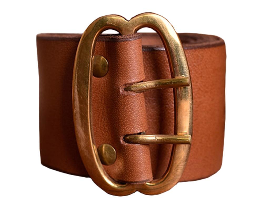 Battle Merchant Ledergürtel ohne Schnalle 3cm breit Wechselgürtel Mittelalter