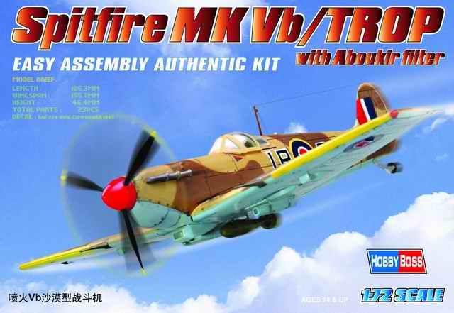 Hobby Boss 3480216 Hurricane MK II TROP 1:72 Flugzeug Modell Bausatz Modellbau