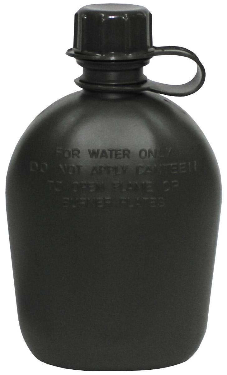 US Plastikfeldflasche 1 L Trinkflasche mit Hülle Oliv Outdoor Camping wandern