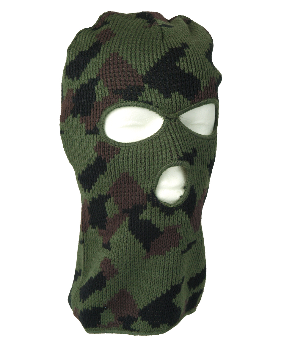 Mil-Tec Balaclava Pan 3-Loch Sturmhaube Maske Skimaske Schwarz Oliv ...