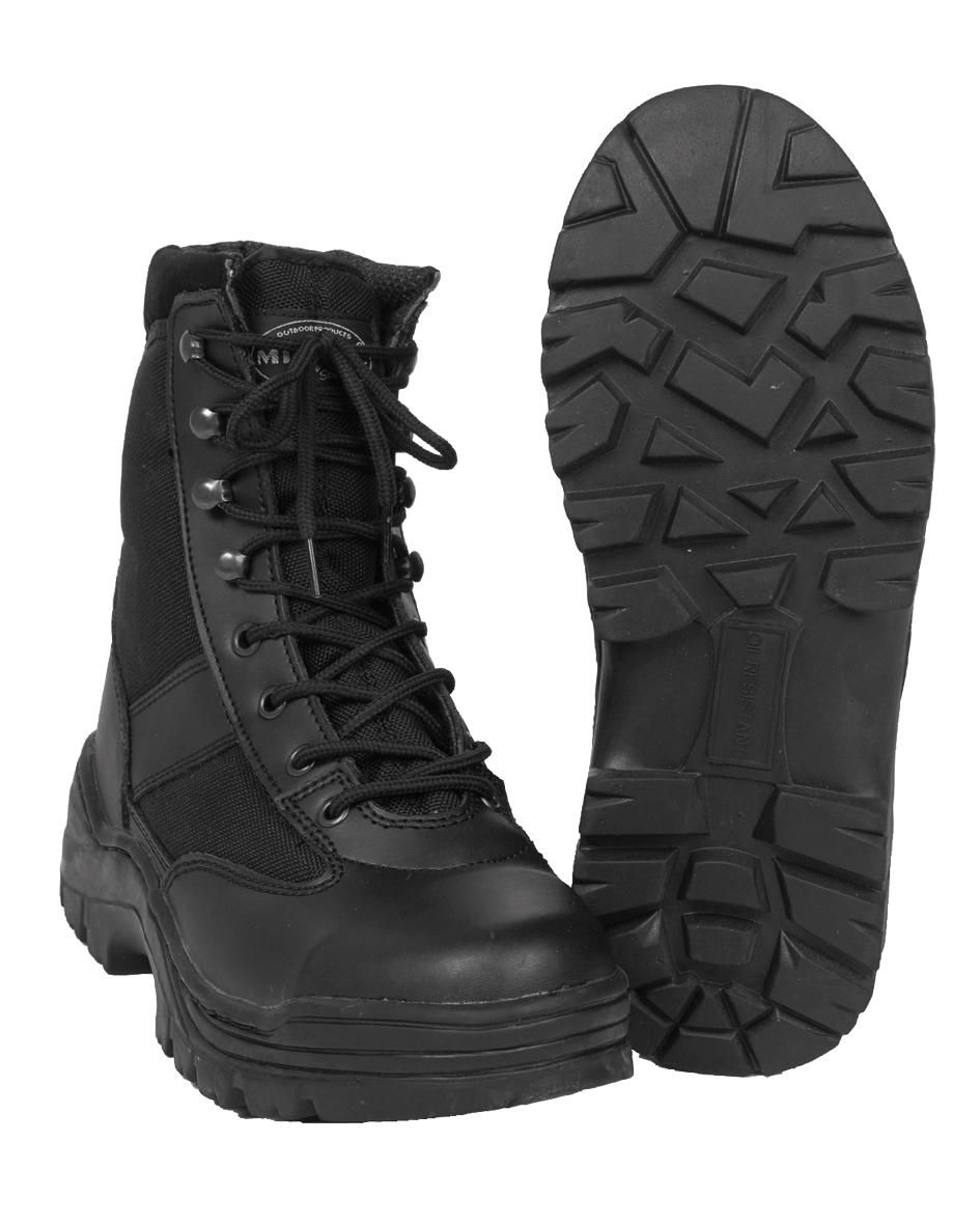 Détails sur Mil Tec Security Bottes utilisation Bottes Randonnée Chaussures Noir 38 47 afficher le titre d'origine