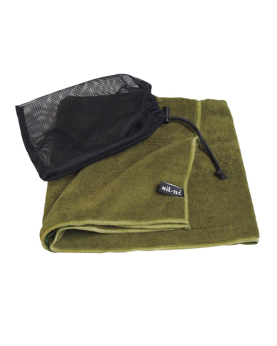 mil tec handtuch oliv 100x50cm baumwolle microfaser g stetuch abtrockentuch ebay. Black Bedroom Furniture Sets. Home Design Ideas