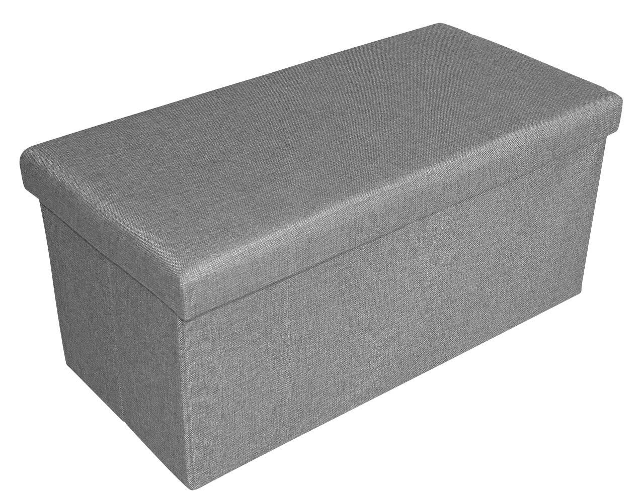 viva aufbewahrungsbox zum sitzen 76x38x38cm stauraumbank sitzbank bank hocker ebay. Black Bedroom Furniture Sets. Home Design Ideas
