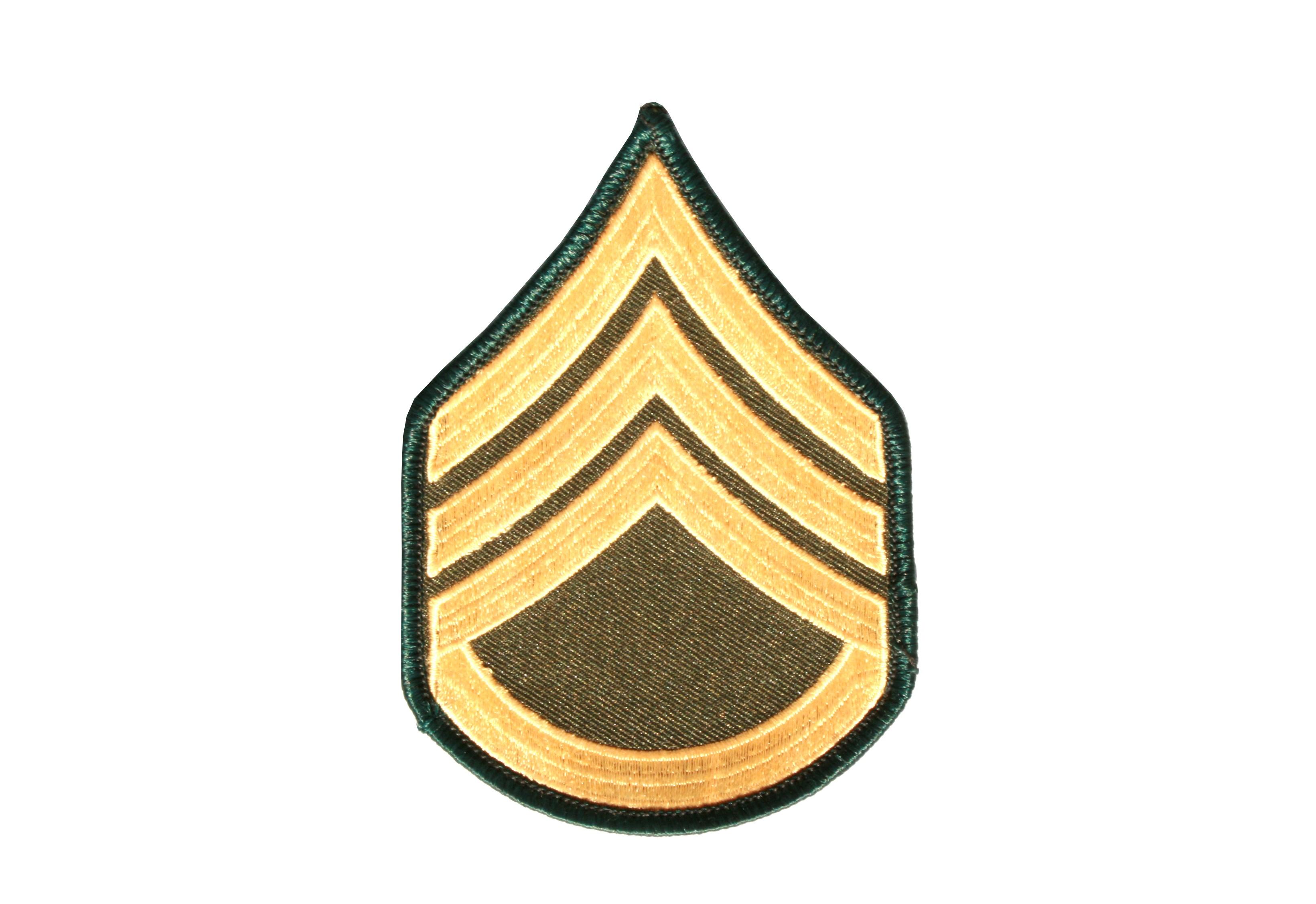 """Stoffabzeichen """"U.S. Army - Staff Sergeant"""""""