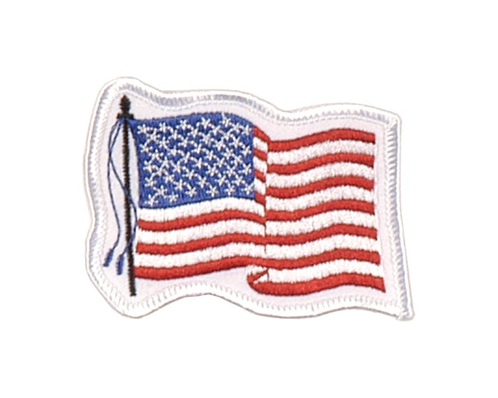 """Stoffabzeichen """"Wehende Flagge U.S.A"""""""