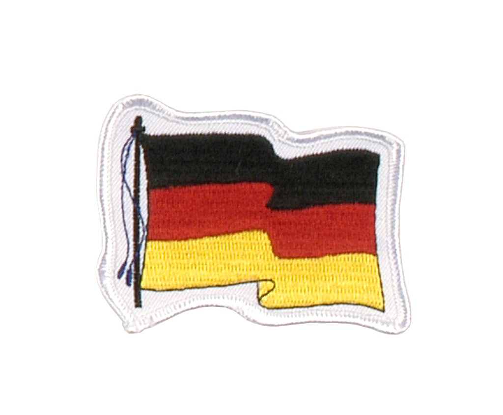 """Stoffabzeichen """"Wehende Flagge Deutschland"""""""