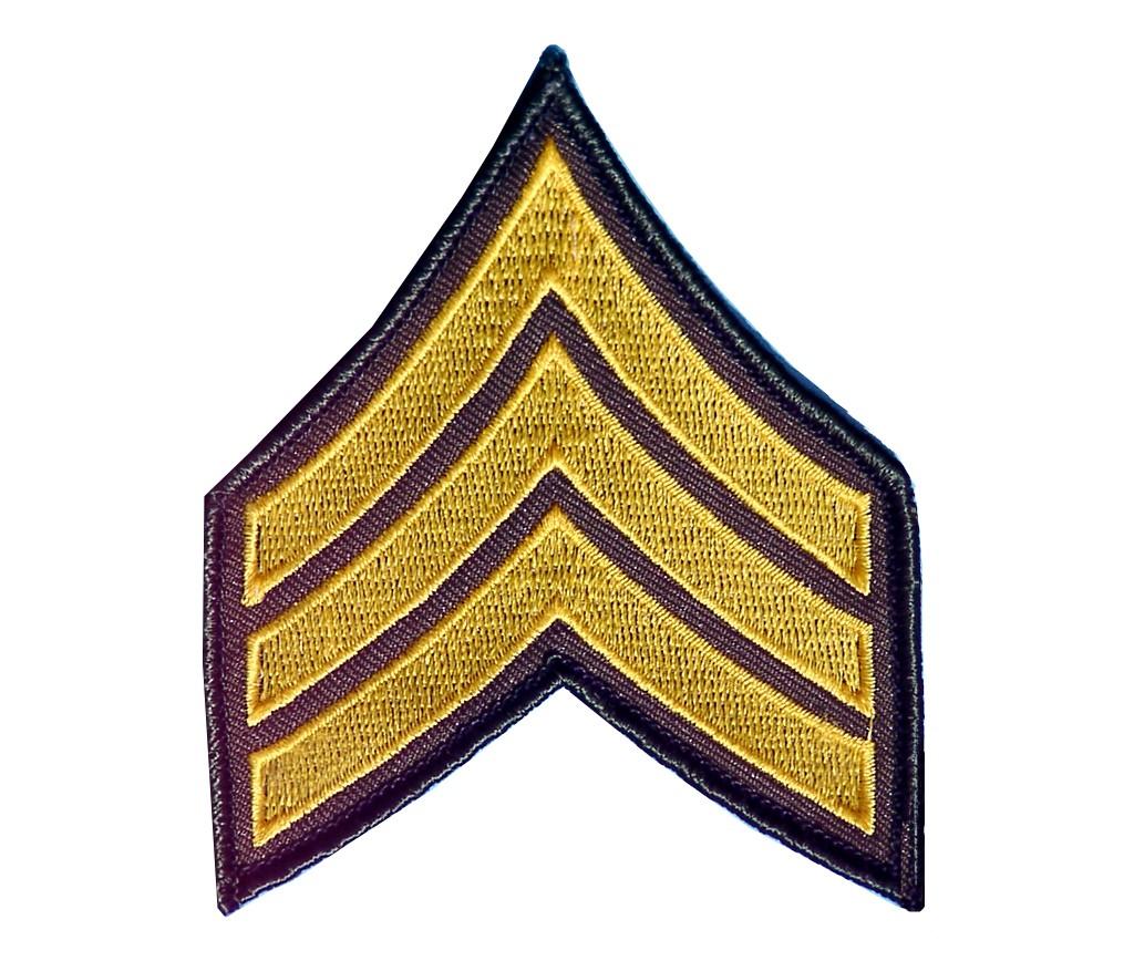 """Stoffabzeichen """"U.S. Army - Sergeant"""""""