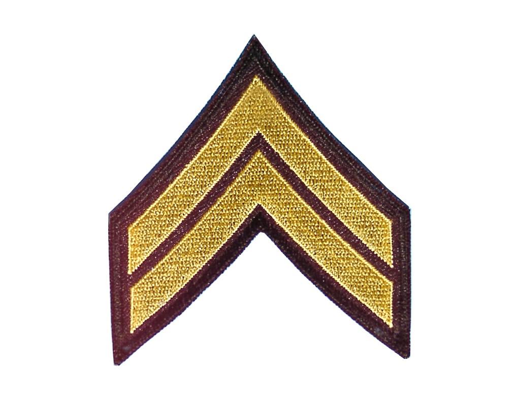 """Stoffabzeichen """"U.S. Army - Corporal"""""""