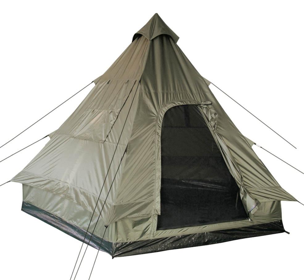 Mil-Tec Pyramidenzelt Tipi 4-Personen-Zelt 290x270x220cm