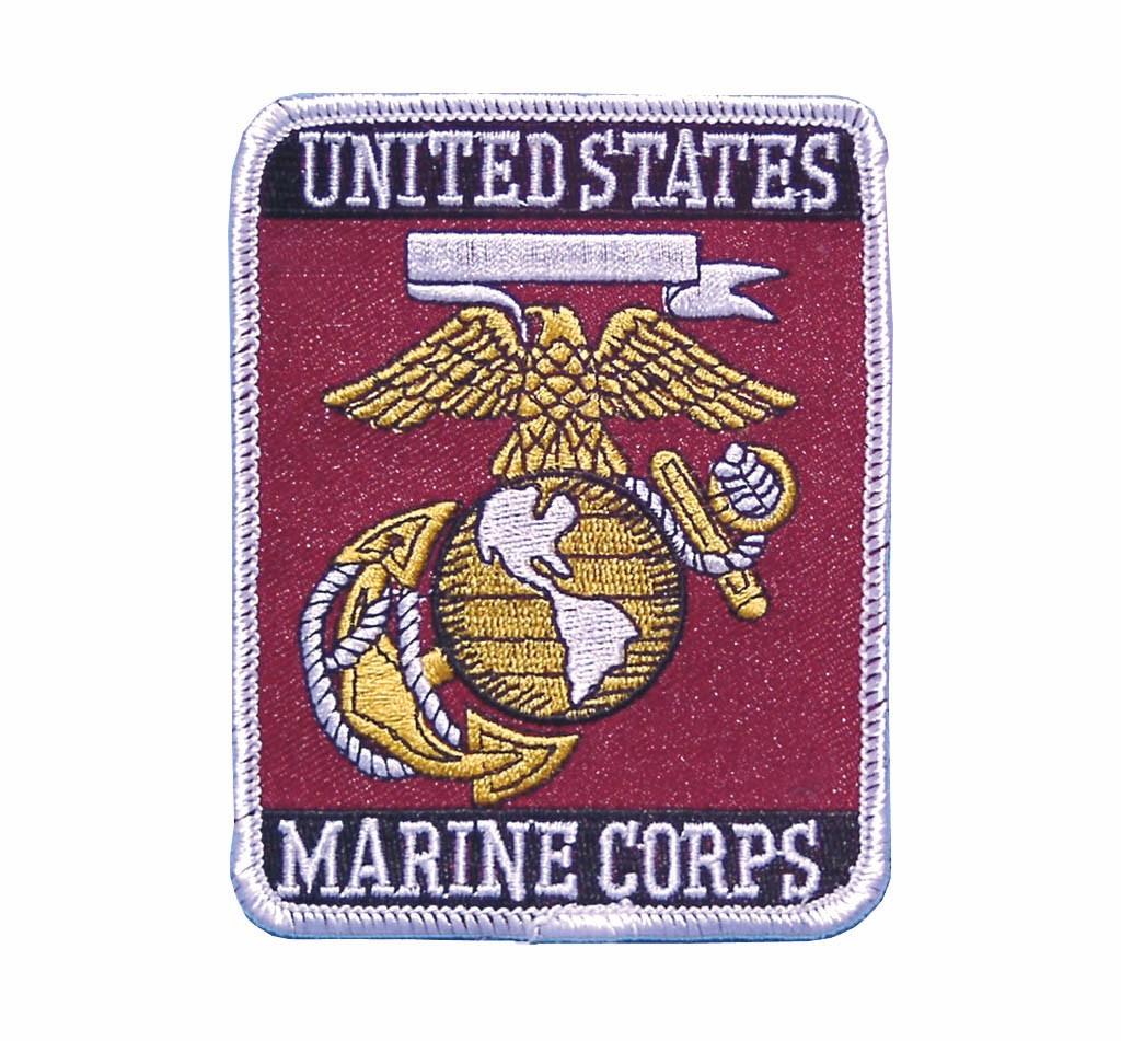 """Stoffabzeichen """"U.S. Marine Corps"""" Rechteck"""