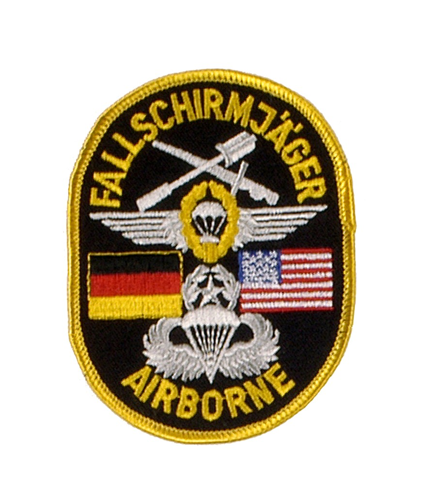 """Stoffabzeichen """"Deutsch - Amerikanische Fallschirmjäger Airborne"""""""