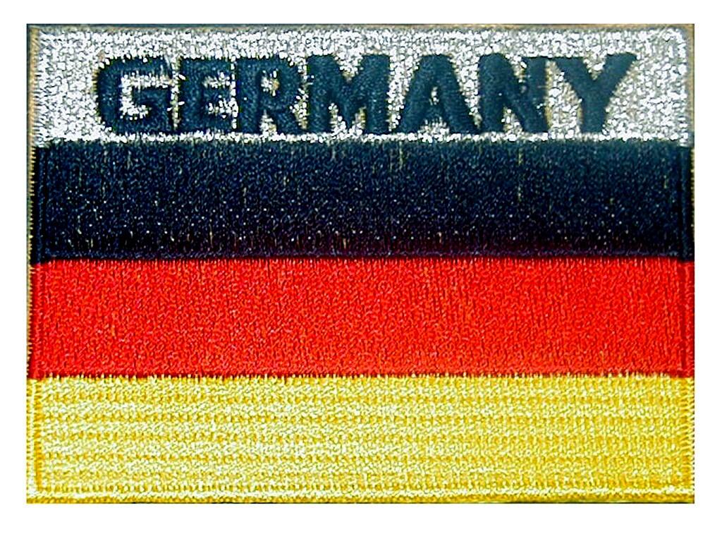 """Stoffabzeichen """"Flagge BR Deutschland"""" mit Schriftzug """"GERMANY"""""""