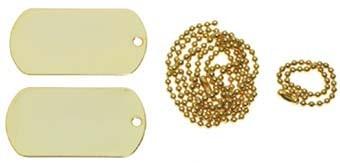MFH US Erkennungsmarke Gold