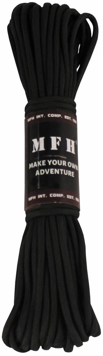 MFH Fallschirmleine Nylon 50 Fuß Schwarz