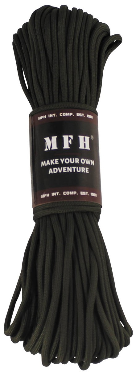 MFH Fallschirmleine Nylon 50 Fuß Oliv