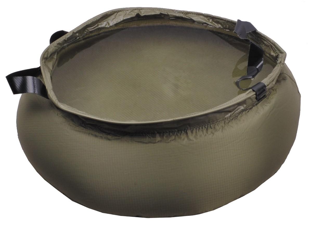 MFH Faltschüssel Oliv 10 Liter mit Beutel