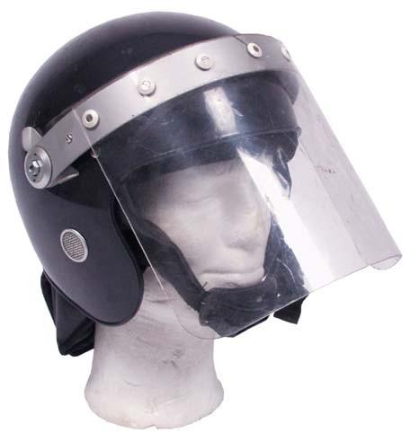 MFH Britischer Polizeihelm mit Visir Blau/Schwarz Neuwertig