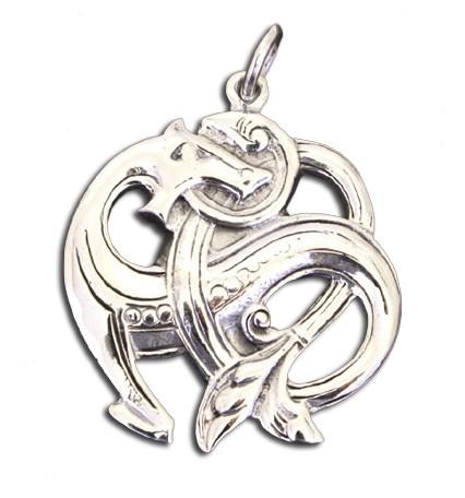 Battle Merchant Fenris-Amulett aus Silber