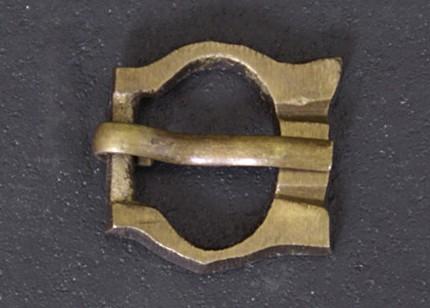 Battle Merchant Hochmittelalter Schnalle aus Messing Nr. 13