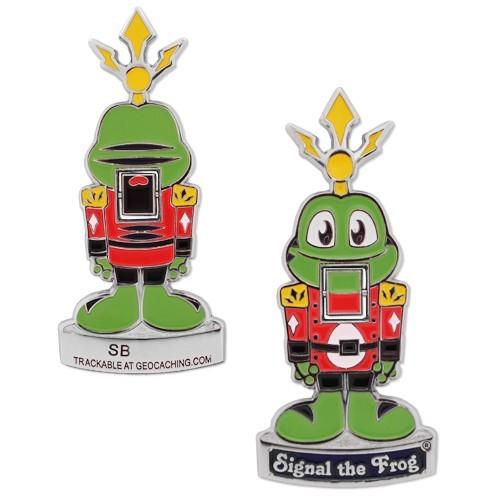 "Geocoin Nussknacker ""Signal the Frog"""