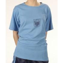 BW Sporthemd mit Adlerdruck Blau Gebraucht