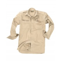Mil-Tec Tropenhemd Ripstop Langarm Khaki