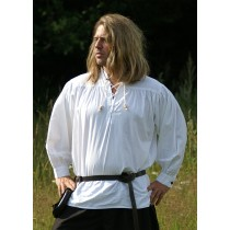 Battle Merchant Mittelalterhemd Weiß
