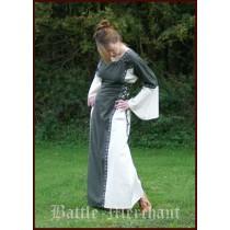 "Battle Merchant Mittelalter Kleid ""Ella"" Grün/Natur"