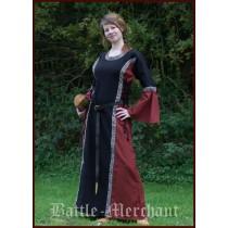 "Battle Merchant Mittelalter Kleid ""Ella"" Schwarz/Rot"