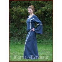 "Battle Merchant Mittelalter Kleid ""Ella"" Blau"