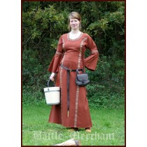 "Battle Merchant Mittelalter Kleid ""Ella"" Rot"
