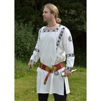 Battle Merchant Römische Langarm-Tunika Blau bestickt