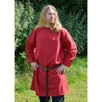 Battle Merchant Langarm-Tunika aus Baumwolle Rot