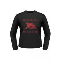 "Battle Merchant Longsleeve-Shirt ""My God is Odin"""