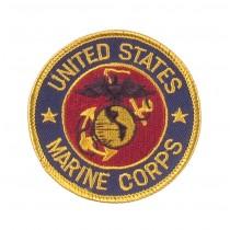 """Stoffabzeichen """"U.S. Marine Corps"""" Rund"""