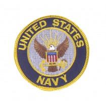 """Stoffabzeichen """"U.S. Navy"""" Rund"""