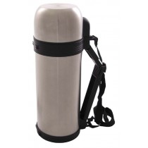 FoX Outdoor Vakuum-Thermoskanne 1,5 l Silber mit Tragegriff