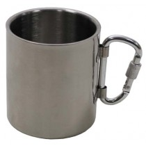 FoX Outdoor Tasse Edelstahl mit Karabiner 300 ml