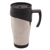 FoX Outdoor Tasse Edelstahl 400 ml mit Deckel und Trinköffnung