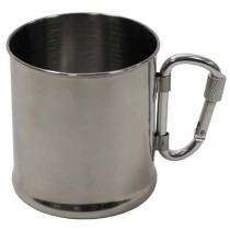 FoX Outdoor Tasse Edelstahl mit Karabiner 220 ml