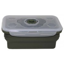 MFH Lunchbox Silikon Rechteckig Oliv 1 l