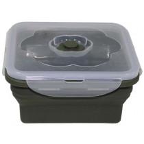 MFH Lunchbox Silikon Quadratisch Oliv 1 l