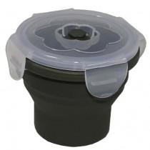 MFH Lunchbox Silikon Rund Oliv 240 ml