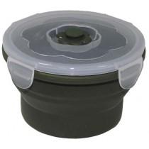 MFH Lunchbox Silikon Rund Oliv 540 ml